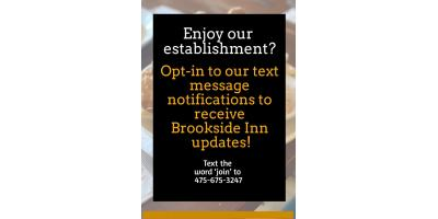 "OPT ""IN"" To Brookside Inn , Oxford, Connecticut"