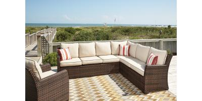 2-PIECE OUTDOOR SECTIONAL SET-SALCEDA BY ASHLEY-$1290, Maryland Heights, Missouri