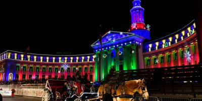 Parking for the Parade of Lights 2017 at Denver Place, Washington, District Of Columbia