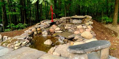 A Guide to Pondless Water Features, East Bloomfield, New York