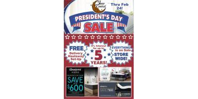 Sleep Central President's Day Mattress Sale Thru February 24!, Minocqua, Wisconsin