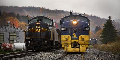 """Why Is the Cheat Mountain Railroad Nicknamed """"The Salamander?"""", Elkins, West Virginia"""