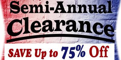 Semi-Annual Clearance Sale Time!, Onalaska, Wisconsin