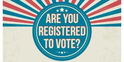 It's National Voter Registration Day!  Every vote counts!!, Forked River, New Jersey