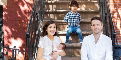Social Distancing Family Portraits on Your Brooklyn Stoop, Brooklyn, New York
