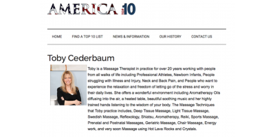 "Toby Cederbaum; ""AMERICA TOP 10"", Caldwell, New Jersey"