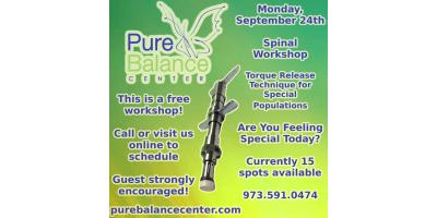 Chiropractic Workshop in Clifton, NJ: Torque Release Technique for Special Populations - Are You Feeling Special, Manhattan, New York