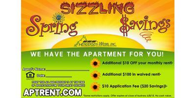 Sizzling Spring Savings from Mountain Ridge Apartments!, Glen Burnie, Maryland