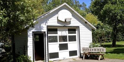 3 Steps to Secure a Basketball Hoop Above the Garage Door, Rosemount, Minnesota