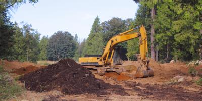 Excavating Contractors Discuss Clearing Land for a New Home, St. Marys, Pennsylvania