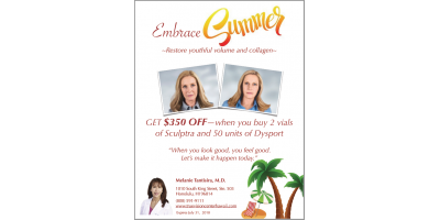 Get $350 off new youthful collagen and 50 units of Dysport!!, Honolulu, Hawaii