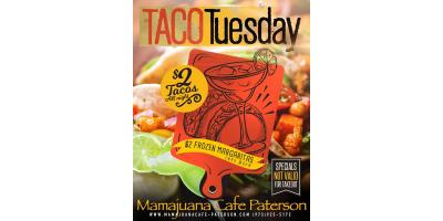 TACO TUESDAY- $2 TACOS- $2 MAGARITA- MAMAJUANA CAFE PATERSON, Paterson, New Jersey
