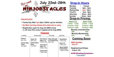This Week at Ninjobstacles July 22-28, Centerville, Ohio