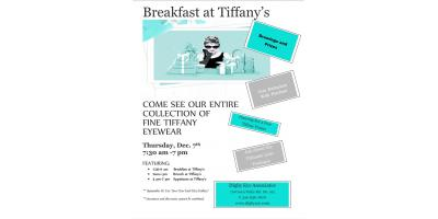 Join Digby Eye Associates For Breakfast at Tiffany's, Greensboro, North Carolina