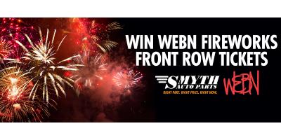 Win WEBN Fireworks Front Row Tickets, Newark, Ohio