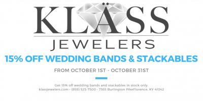 15% off Wedding Bands & Stackables, ,