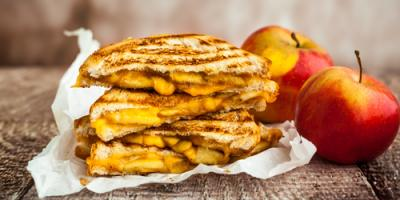 Wisconsin Cheese Shop Celebrates National Grilled Cheese Month, Luxemburg, Wisconsin