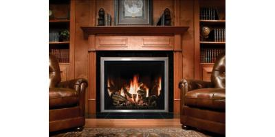 Kozy Heat Springfield DV ZC Fireplace display shows customers a Realistic Flame., Penfield, New York