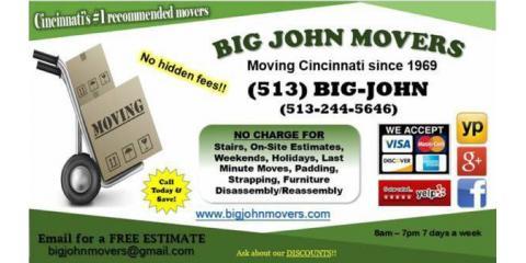 Big John Movers, Moving Companies, Real Estate, Cincinnati, Ohio