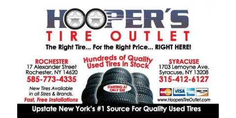 Hoopers Tire Outlet: Used Tires With a 100% Satisfaction Guarantee, Rochester, New York