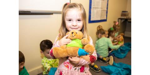 Coryell Health Nurses Badge-a-Bear at Trinity Baptist Preschool, Gatesville, Texas