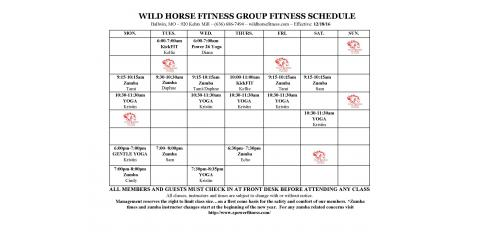 Updated Wild Horse Group Fitness Class Schedule , Ballwin, Missouri