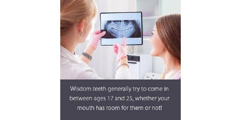 When to expect wisdom teeth to erupt, Lewisburg, Pennsylvania