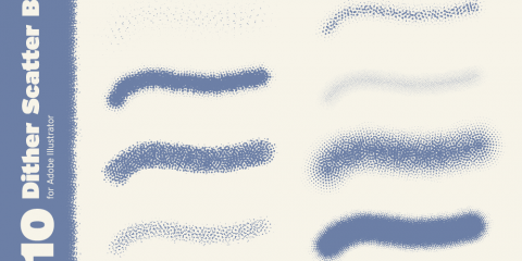 10 Dither Scatter Brushes for Adobe Illustrator, Manhattan, New York