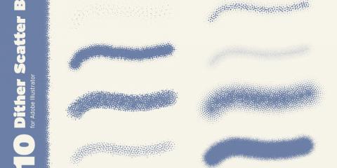 10 Dither Scatter Brushes for Adobe Illustrator, Manhattan, New York