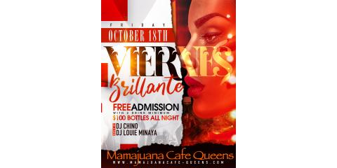 VIERNES BRILLANTES- OCT 18TH- MAMAJUANA CAFE QUEENS , New York, New York