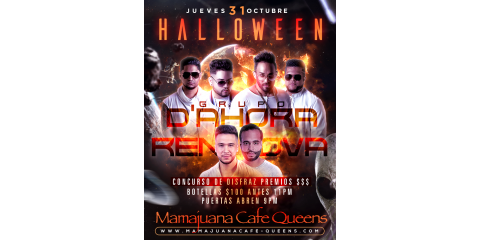 HALLOWEEN- GRUPO D'AHORA- RENOVA- MAMAJUANA CAFE QUEENS, New York, New York