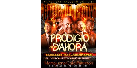 PRODIGIO- GRUPO D' AHORA- OCT 31ST - MAMAJUANA CAFE PATERSON , Paterson, New Jersey