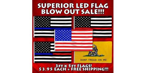 Grab Your Thin Line Flag & Support Your LEO & Fire Fighters , Russellville, Kentucky