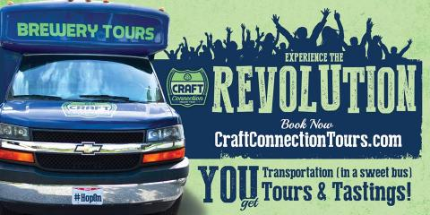 Craft Connection Brewery Tours, Breweries & Beer Distribution, Restaurants and Food, Cincinnati, Ohio