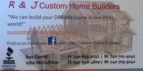 R & J Custom Home Builders, Custom Homes, Services, Chillicothe, Ohio