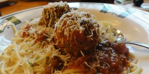 Try the Pasta With Homemade Meatballs From Stamford's Premier Pizza Restaurant, Stamford, Connecticut