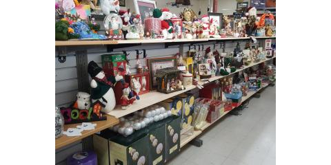 Christmas items are on the shelves, St. Charles, Missouri