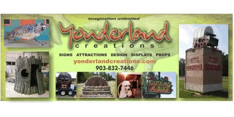 Yonderland Creations, Custom Signs, Services, Texarkana, Texas