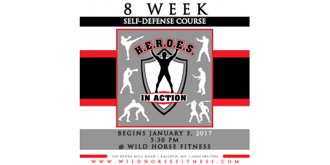 Self-Defense January 3rd, 2017 at 5:30 at Wild Horse Fitness, Ballwin, Missouri