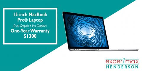 15-inch MacBook Pro® Laptops with 1-year Warranty - $1300, Henderson, Nevada