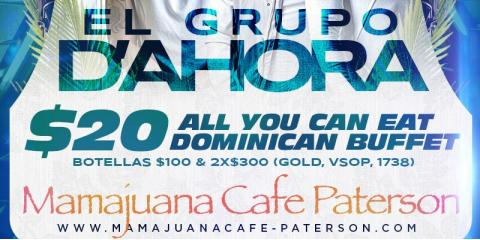 JUEVES SANTIAGUEROS- GRUPO D' AHORA- AGOSTO 15th- MAMAJUANA CAFE PATERSON, Paterson, New Jersey