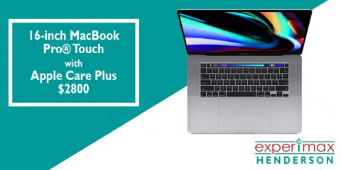 16-inch MacBook Pro® Touch with Apple Care Plus - $2800, Henderson, Nevada