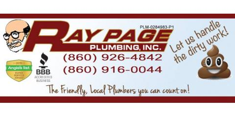 Ray Page Plumbing, Inc., Plumbing, Services, Vernon , Connecticut