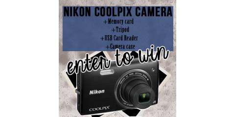 Last Day to Enter to Win A Brand New Nikon COOLPIX 5200 Camera, Manhattan, New York