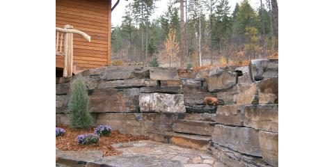 How to Landscape Around a Rock Retaining Wall , Kalispell, Montana