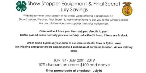 HOT July Savings!!!, Seventy-Six, Iowa
