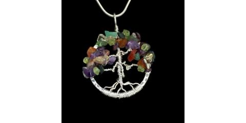 Wire wrapping Gemstone Trees, Cheviot, Ohio