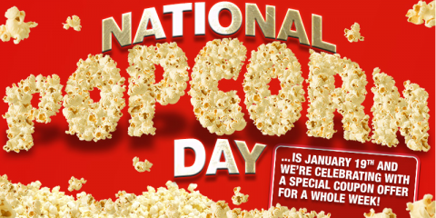 FREE POPCORN with smoothie, coffee, or hot chocolate bar, Potomac, Maryland