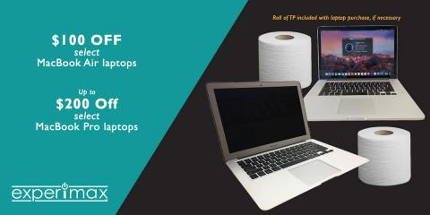 Sale on MacBook Air & MacBook Pro Laptops - Up to $200 Off!, South Coast, California