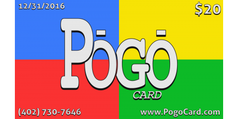 3 Pogo Cards For $30 With Donation Of 3 Cans Of Food!, Lincoln, Nebraska